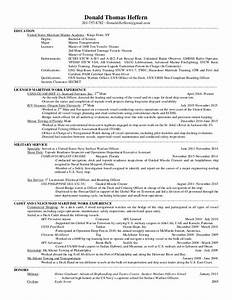 Marine Transportation Deck Cadet Resume