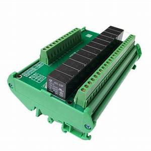 Relay Output Module Plc Output Amplifier With Guide Rail
