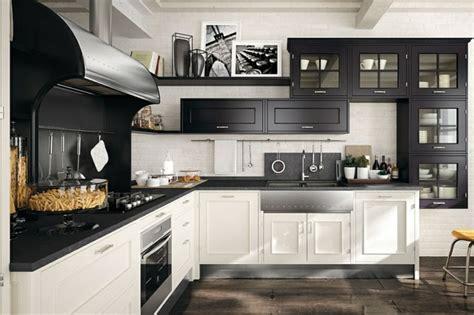 modele cuisine noir et blanc cuisine moderne marchi la collection montserrat