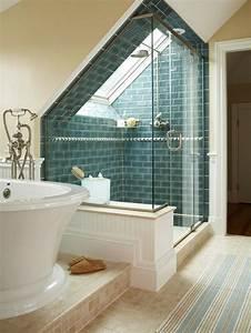 Badezimmer Gestalten Dachschräge : ideen badezimmer mit dachschr ge blau backstein bad pinterest dachschr ge badezimmer und blau ~ Markanthonyermac.com Haus und Dekorationen