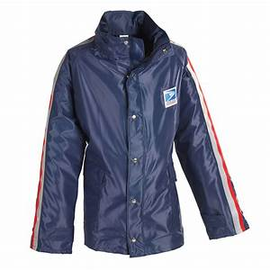 womens traditional postal hooded rain jacket for letter c With letter carrier jacket