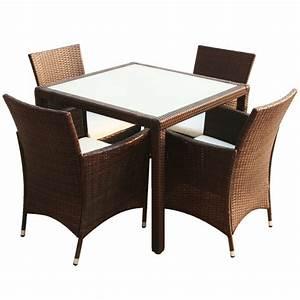 Ensemble Chaise Et Table : ensemble de jardin table et chaise marron interougehome ~ Dailycaller-alerts.com Idées de Décoration