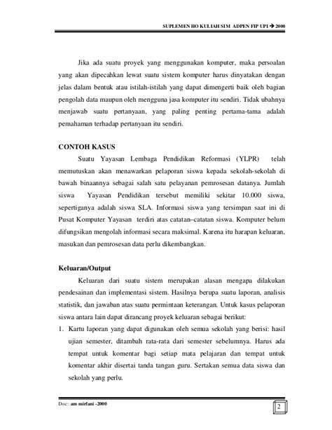Rancang Bangun Sistem Informasi Manajemen Sekolah