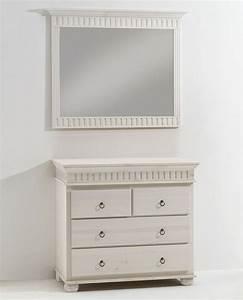 Kommode Massiv Weiß : massivholz spiegel dielenspiegel mit kommode kiefer massiv wei lasiert ~ Orissabook.com Haus und Dekorationen
