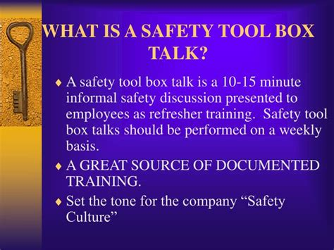 toolbox talk template nsw ppt what is a safety tool box talk powerpoint