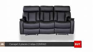 Canapé 3 2 Places : canap 3 places 2 relax conrad but youtube ~ Teatrodelosmanantiales.com Idées de Décoration