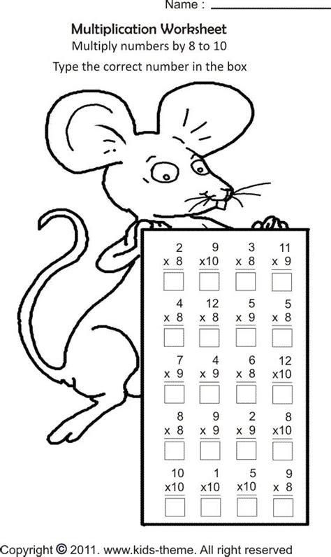 math coloring pages  grade kids  grade   grade