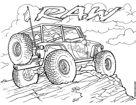 pin  andrew calabria  colouring jeep drawing jeep