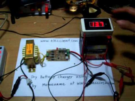 Auto Dry Battery Charger Circuit Using Scr Youtube