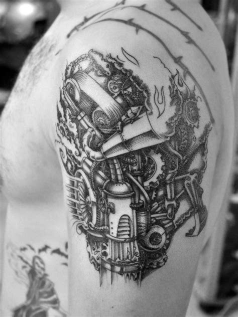 1000+ images about Mechanical Shoulder Tattoo on Pinterest