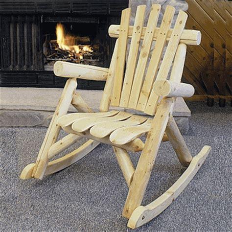 lakeland mills cedar contoured seat rocking chair