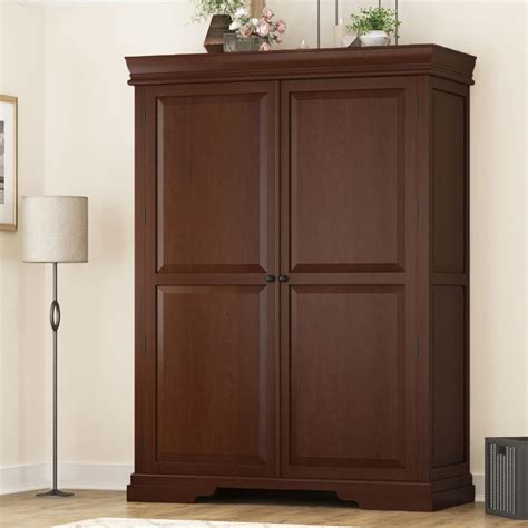 Large Clothing Armoire by Accoville Mahogany Wood Large Bedroom Clothing Armoire