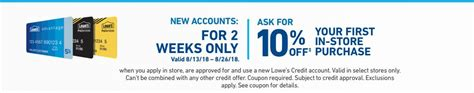 Check spelling or type a new query. New Lowe's Advantage Card Account