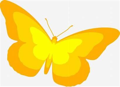 Simple Clipart Butterflies Butterfly Yellow Webstockreview