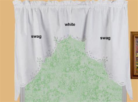battenburg lace kitchen curtain 38 quot l swags white
