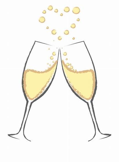 Cheers Champagne Glasses Clipart Wine Clip Svg