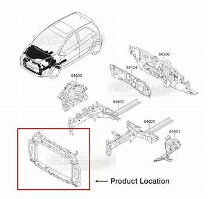 Oem Genuine Front Radiator Support Pannel Assy For Kia 2011 Morning