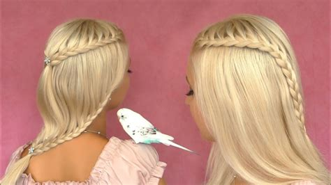 french lace braid tutorial cute hairstyle for short medium