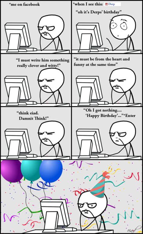 Meme Comic Facebook - facebook at birthday meme comics