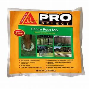 Sika Stop Mousse Pro : sika 33 fl oz fence post mix 483503 the home depot ~ Dailycaller-alerts.com Idées de Décoration