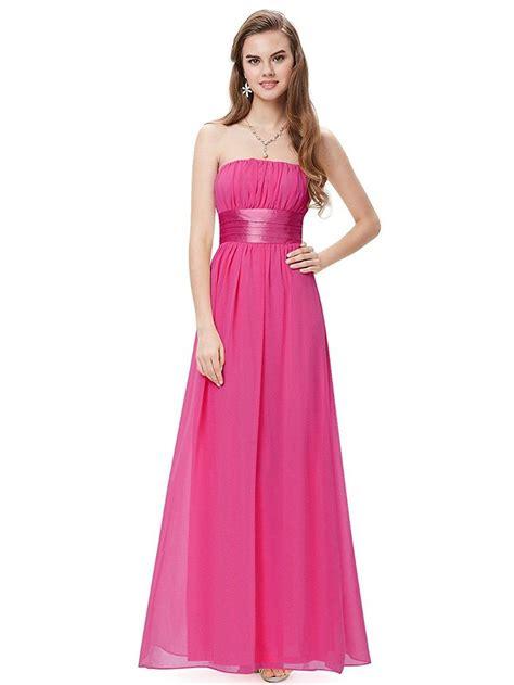 simpledress simple strapless empire waist bow sash show