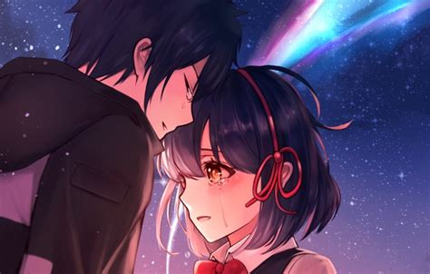 wallpaper romance anime art  kimi  va