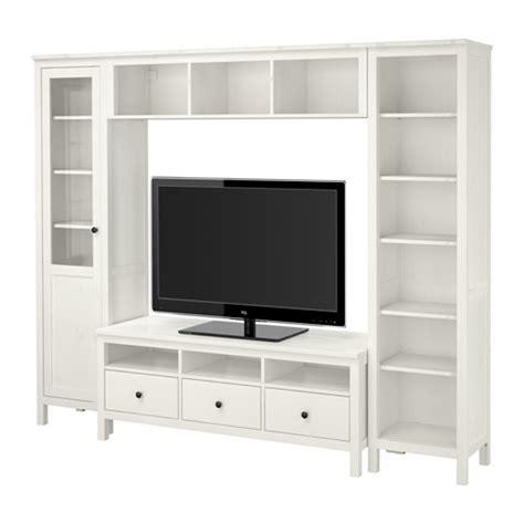 hemnes combinaison meuble tv teint 233 blanc ikea