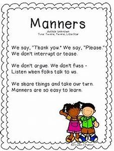 Manners A Poem Song Or Chant For Your Little Learners