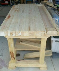 custom built heavy duty  top timber workbench