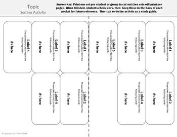 card sorting template editable template for card sorts with notebook pockets