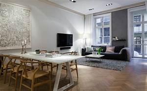 Wohnzimmer Mit Grauer Couch : skandinavisches wohnung design mit einem modernem stil ~ Bigdaddyawards.com Haus und Dekorationen