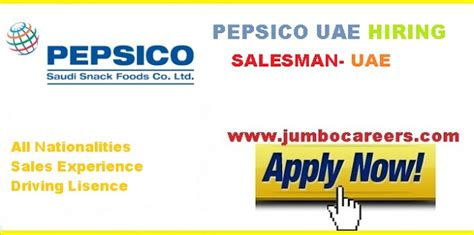 Latest Salesman Job Vacancies At Pepsico Uae
