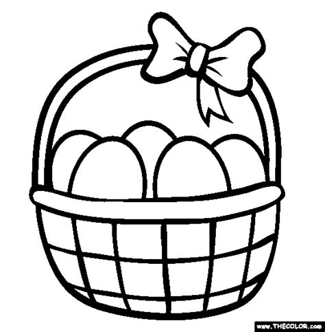 easter basket coloring pages free coloring pages thecolor