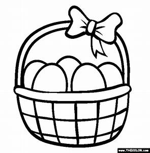 6 Printable Easter Baskets Coloring Pages