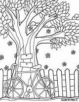 Coloring Tree Colorear Fence Dibujos Mediafire Bordado Adults Pintar Paisajes Desenhos Patrones Adultos Bordar Imprimir Printable Colorir Alley Doodle Lets sketch template