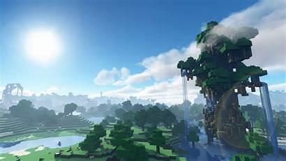 Minecraft 4k Wallpapers Desktop Background Mobile Waterfall