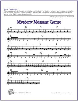 Music Game Worksheet  Free Printable Music Lesson Resource  My Favorite Freebies