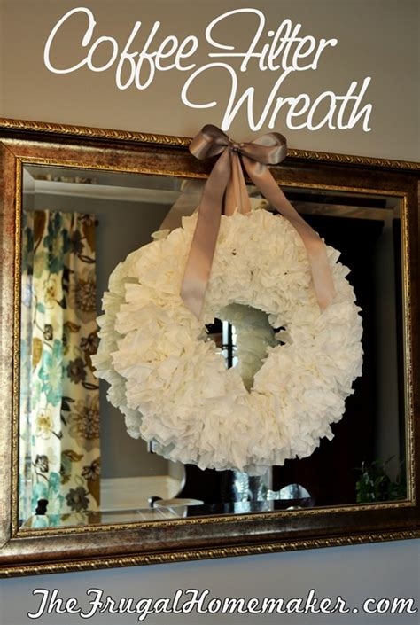 Piece of twine or ribbon (to use as a hanger). Coffee Filter Wreath