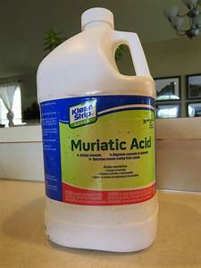 use muriatic acid for tough concrete offenders modernize With how to use muriatic acid to clean bathroom