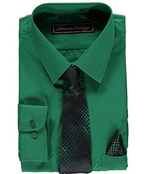 American Exchange Big Boys' Dress Shirt Set   emerald