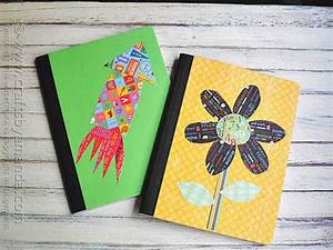 Decorating a Composition Notebook - Crafts by Amanda