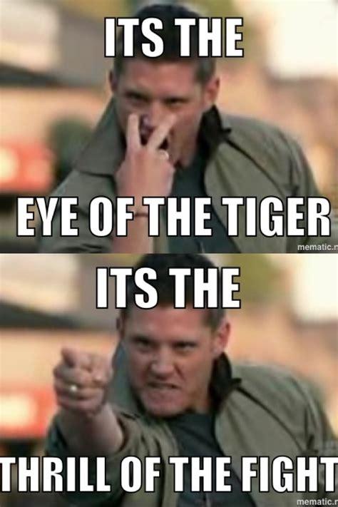 Eye Of The Tiger Meme - supernatural eye of the tiger