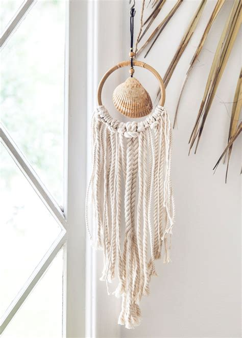 hanging shells decoration shack shell wall hanging bohemian home decor by