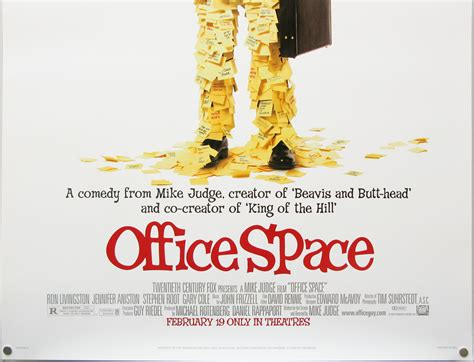 Office Space Poster by Office Space One Sheet Advance Usa