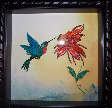 hummingbird tranquillity quilling designs  djay