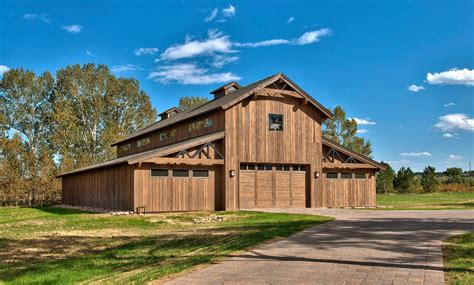 Pole-barn-with-living-quarters-garage-and-shed-rustic-with