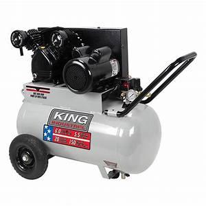 5 5 Peak Hp 20 Gallon Air Compressor King Canada