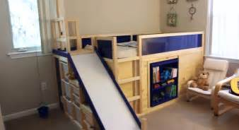 kura transformed into bed play structure combo ikea