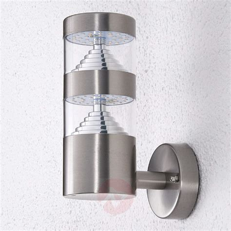stainless steel led outdoor wall light lanea lights ie