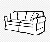 Sofa Couch Coloring Drawing Living Line Kisspng sketch template